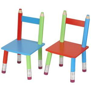La Chaise Longue - chaises crayons pour enfant (par 2) - Chaise Enfant
