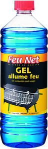 FEU NET - gel combustible allume-feu multi-usages 1 litre - Allume Barbecue