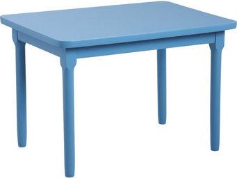 Aubry-Gaspard - table enfant en h�tre bleu - Bureau Enfant