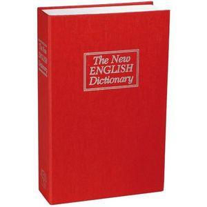La Chaise Longue - coffre fort imitation dictionnaire anglais rouge 1 - Boite De Rangement