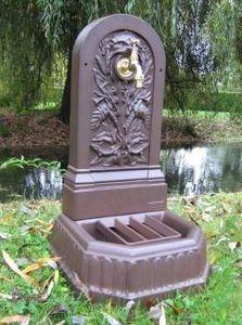Fontes D'art De Dommartin - fontaine extérieure à adosser - Fontaine Murale D'extérieur