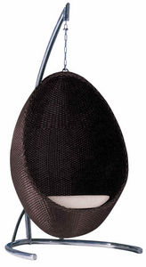 Aubry-Gaspard - fauteuil suspendu en résine avec pied - Balancelle