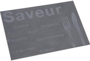 Aubry-Gaspard - plateau rectangulaire saveur en ardoise naturelle - Plateau