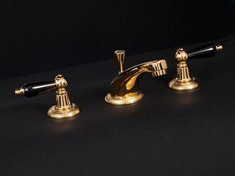 Cristal Et Bronze - alizé manettes - Mélangeur Lavabo 3 Trous
