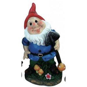 CODEVENT - statuette nain de jardin pelle - Nain De Jardin