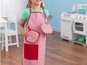 KidKraft - panoplie de chef rouge pour enfant - Jouets De Poup�e