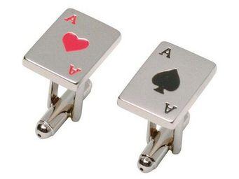 La Chaise Longue - boutons de manchette poker - Bouton De Manchette