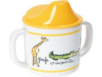La Chaise Longue - tasse bec 2 anses mélamine jungle - Biberon