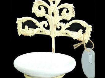 L'HERITIER DU TEMPS - porte savon fer et c�ramique - Porte Savon � Poser