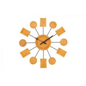 INVOTIS - horloge murale biscuit - Pendule Murale