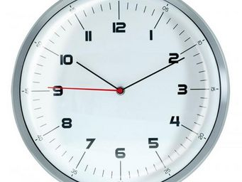 INVOTIS - horloge oeil de boeuf blanc - Pendule Murale