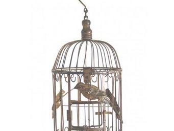 L HERITIER DU TEMPS - cage � oiseaux ronde - 35 cm - Cage � Oiseaux