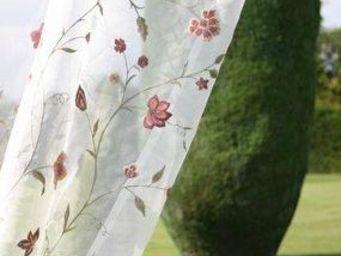 JAMES HARE - climbing floral organza - Organza