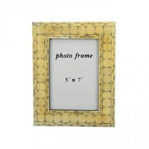 Demeure et Jardin - cadre en os d�cor geometrique - Cadre Photo