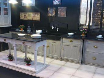 PROVENCE ET FILS - cuisine piece a vivre - Ilot De Cuisine