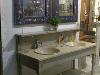 PROVENCE ET FILS - ensemble de salle de bain drapiere 160*60*108 avec - Meuble Double Vasque