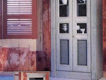 PROVENCE ET FILS - armoire girondine /portes grillag�es & caisson int - Armoire � Portes Battantes