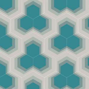 BEAUREGARD - hexagone- - Carreau De Ciment