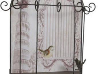 Antic Line Creations - �tag�re cage roses shabby - Cage � Oiseaux
