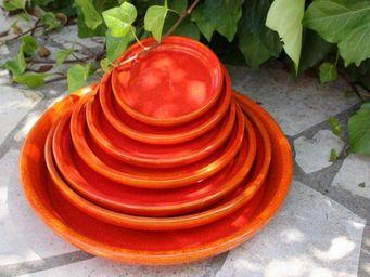 Les Poteries D'albi - rouge - Dessous De Pot De Jardin