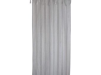 Interior's - rideau rayé gris toile de jouy - Rideau Occultant