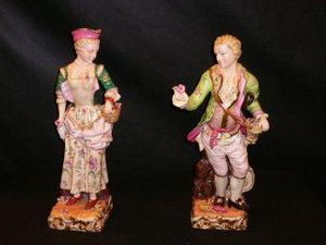 Demeure et Jardin - couple de personnages pr�cieux - Figurine