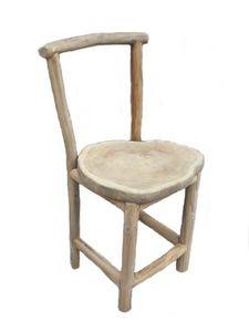Mathi Design - chaise en bois nature - Chaise De Jardin