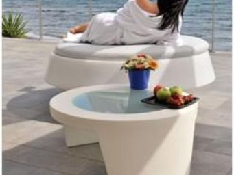 Mathi Design - table basse slide tao - Table Basse Ronde