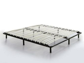 BELIANI - 180x200 cm - Sommier Fixe � Lattes