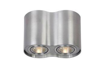 LUCIDE - spot rond tube double aluminium - Spot