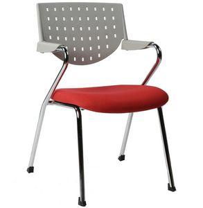 KOKOON DESIGN - chaise de bureau stanford rouge - Chaise De Bureau