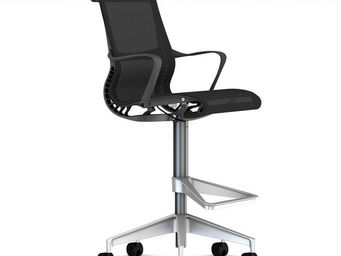 Herman Miller - setu stool sgabello con braccioli grafite - Chaise De Bureau