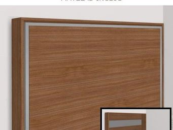 WHITE LABEL - armoire lit escamotable athena, noyer. matelas tre - Armoire Lit