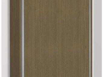 WHITE LABEL - armoire lit escamotable eos, chêne taupe. matelas - Armoire Lit