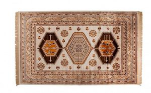 WHITE LABEL - tapis jar dutchbone marron - Tapis Berbère