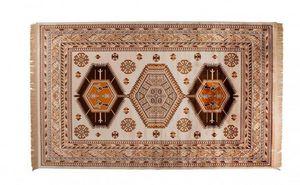 WHITE LABEL - tapis jar dutchbone marron - Tapis Berbère