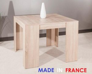 WHITE LABEL - console elasto ch�ne clair, extensible en table re - Console Extensible