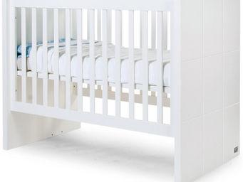 WHITE LABEL - lit enfant 90x200 �volutif blanc design moderne - Lit Pliant B�b�