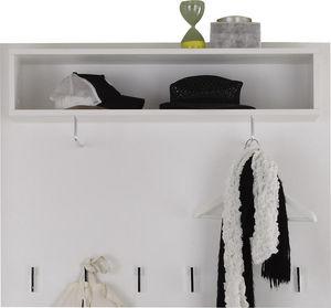 COMFORIUM - porte-manteau mural coloris blanc brillant - Vestiaire