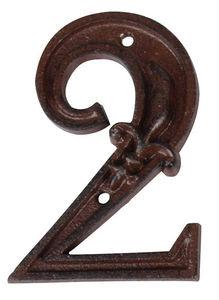 BEST FOR BOOTS - numéro de maison en fonte 2 11,4x7,8x1cm - Numéro De Porte