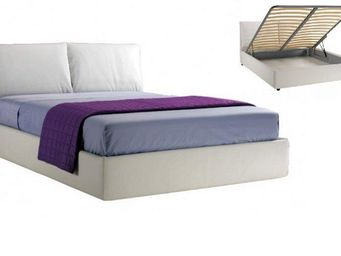 STYLEHOUSE  - lit coffre teseo haut de gamme avec tête de lit co - Lit Coffre