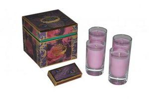 Demeure et Jardin - coffret de 4 bougies antique rose - Bougie Parfumée