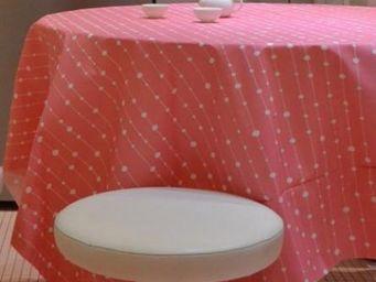 FLEUR DE SOLEIL - perles rose - Nappe Enduite