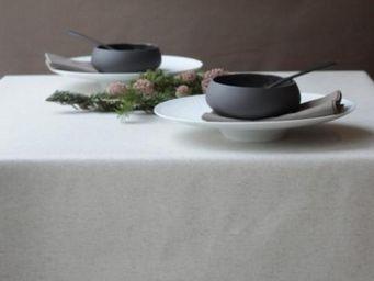 FLEUR DE SOLEIL - uni lin coton - Nappe Enduite