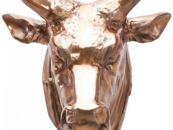 KARE DESIGN - tête buffle cuivre - Trophée De Chasse