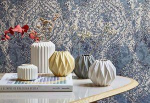 Madura - origami gris - Vase À Fleurs