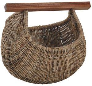 Aubry-Gaspard - panier à coquillages en rotin et bois - Panier De Pêcheur