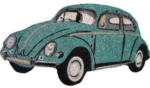 Aubry-Gaspard - paillasson coccinelle bleue - Paillasson