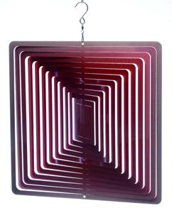 SPIN-ART SPINNERS - mobile � vent carr� rouge 15cm - Mobile