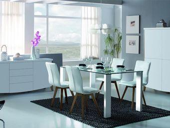 WHITE LABEL - salle à manger complète - bianca - l 150 x l 90 x - Salle À Manger